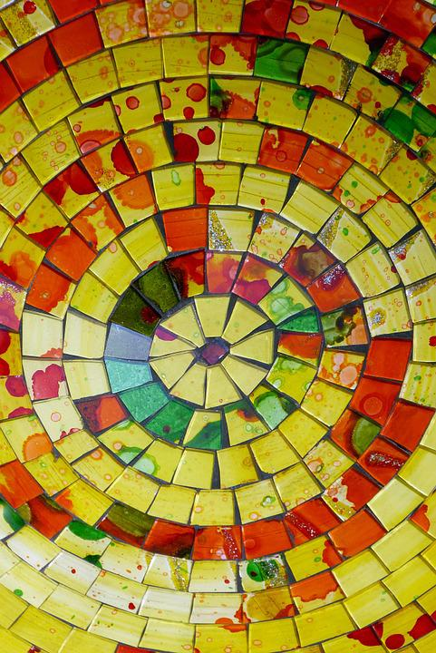 Color, Yellow, Colors, Background, Glass, Mosaic