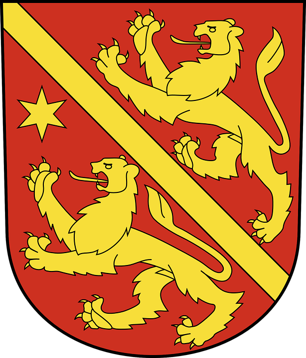 Red, Yellow, Coat, Arms, Colors, Design