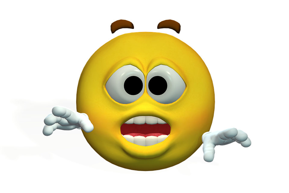 Emotiguy, Frightened, Excited, Curious, Fig, Yellow