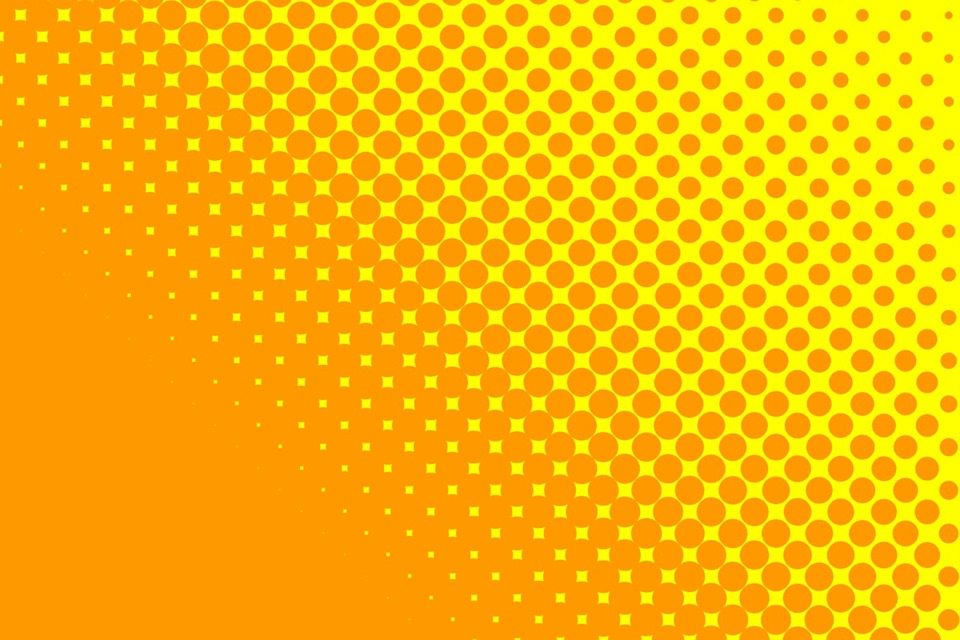 Yellow Orange Dots Backgrounds Golden Bright