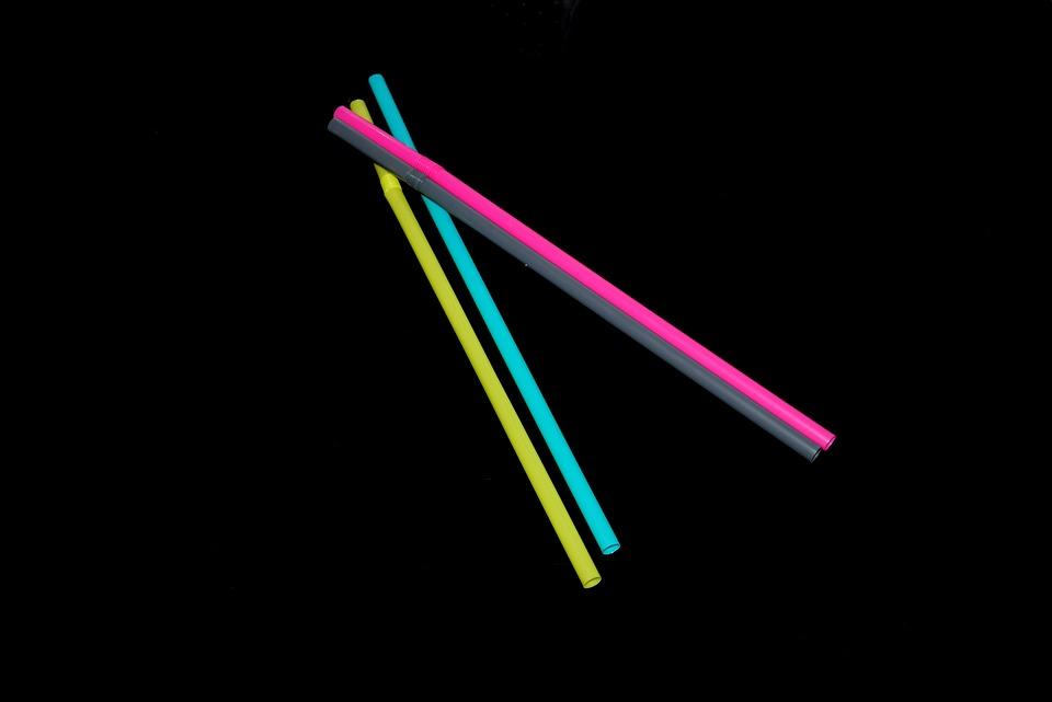 Drinking Straw, Straw, Colorful, Yellow, Blue, Grey