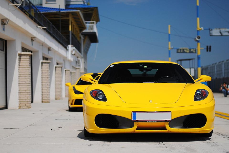 Ferrari, Yellow, Sports Car, Vehicle, Car, Automobile