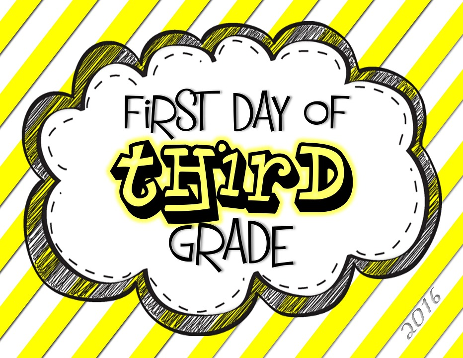 Third, Grade, Day, First, Yellow, Sign