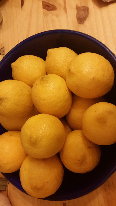 Lemons, Juicy, Yellow, Food, Juice, Sour