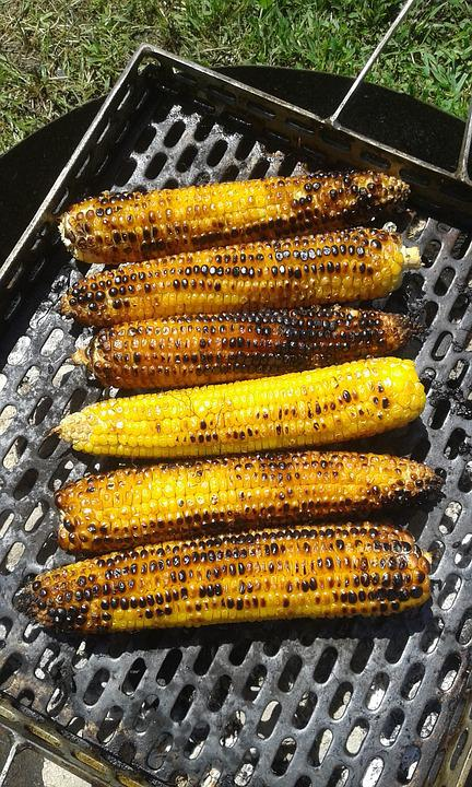 Corn, Grill, Yellow, Food, Grilled, Barbecue, Bbq