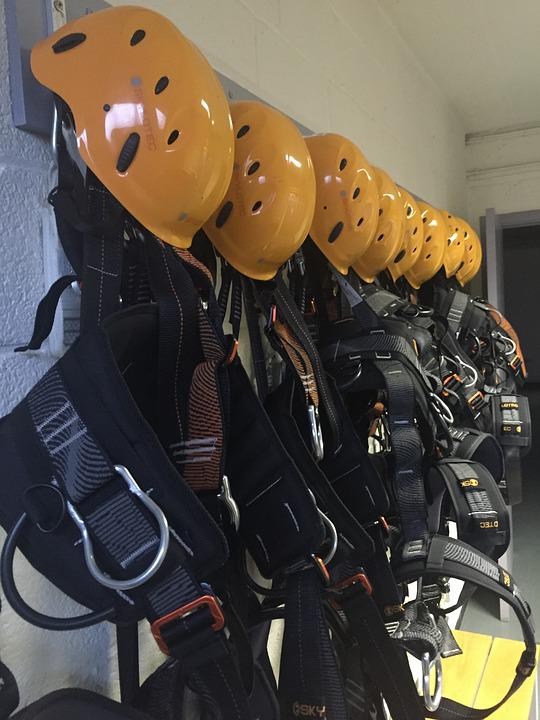 Helmet, Yellow, Harness, Protection, Equipment