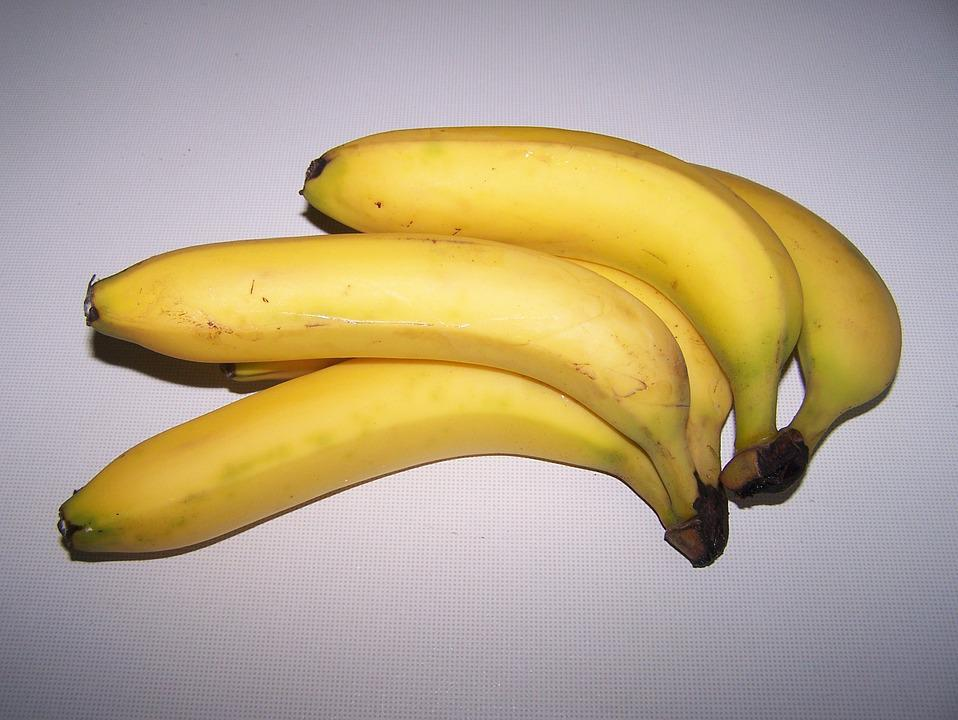 Bananas, Yellow, Ripe, Fruit, Healthy, Food, Fruits
