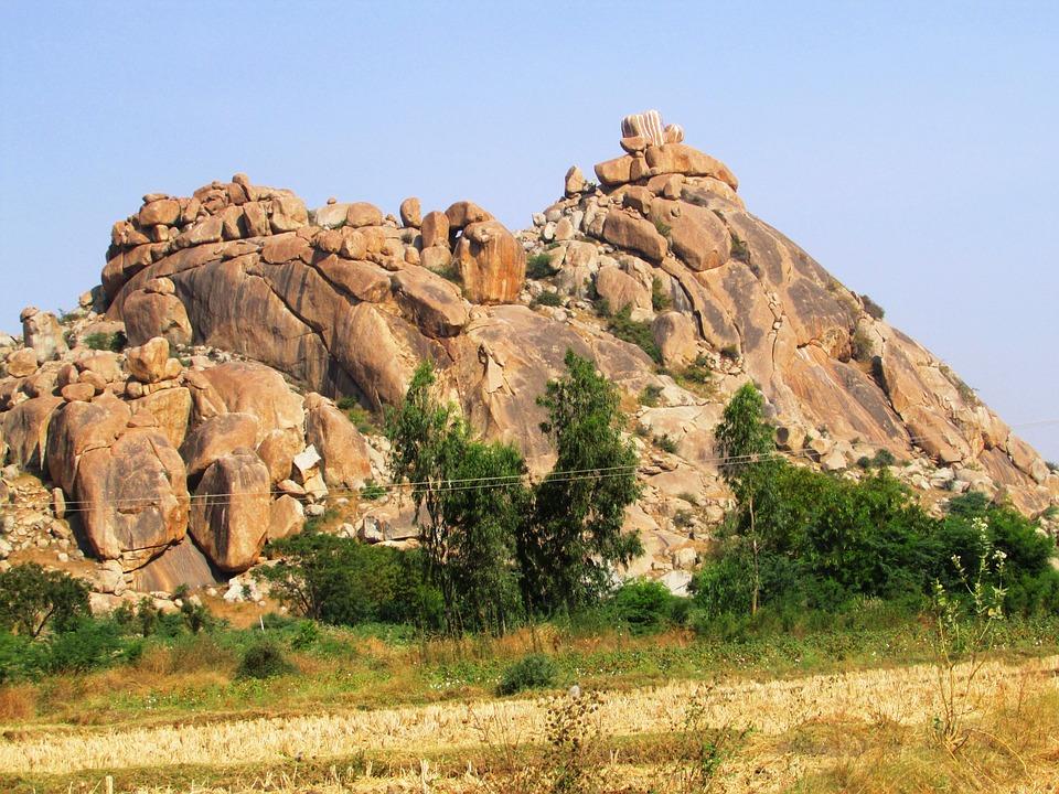 Rocks, Mountains, Yellow, Stones, Rocky, Mass, Hills