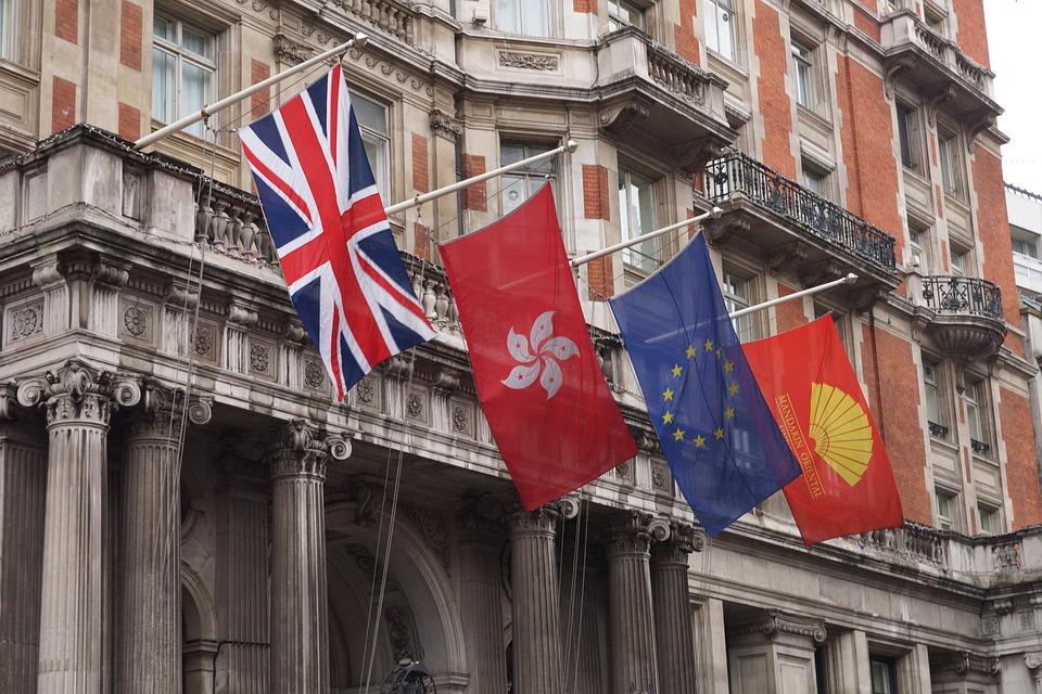 Flags, London, Yellow