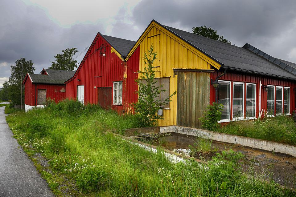 House, Old, Building, Red, Yellow, Rustic, Window