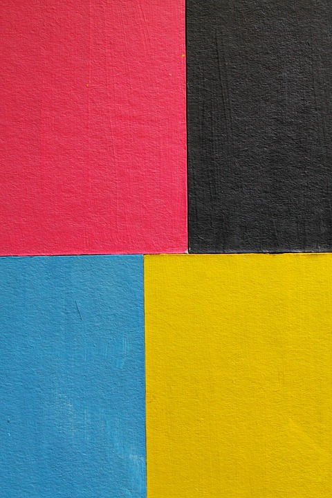 Cardboard, Color, Black, Pink, Yellow, Blue