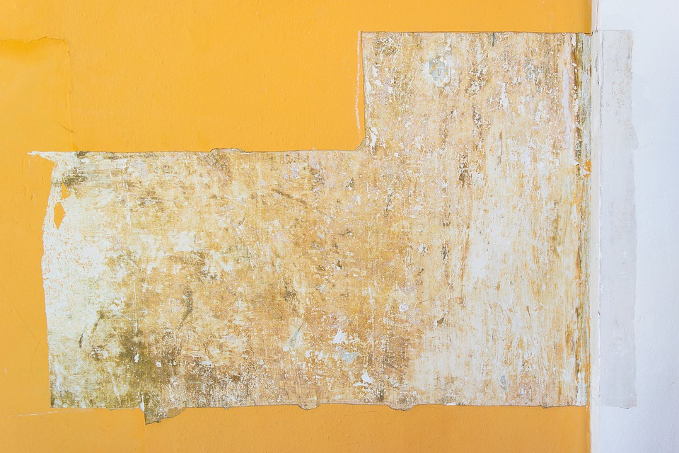 Yellow, White, Wall, Rusty, Textures, Architecture
