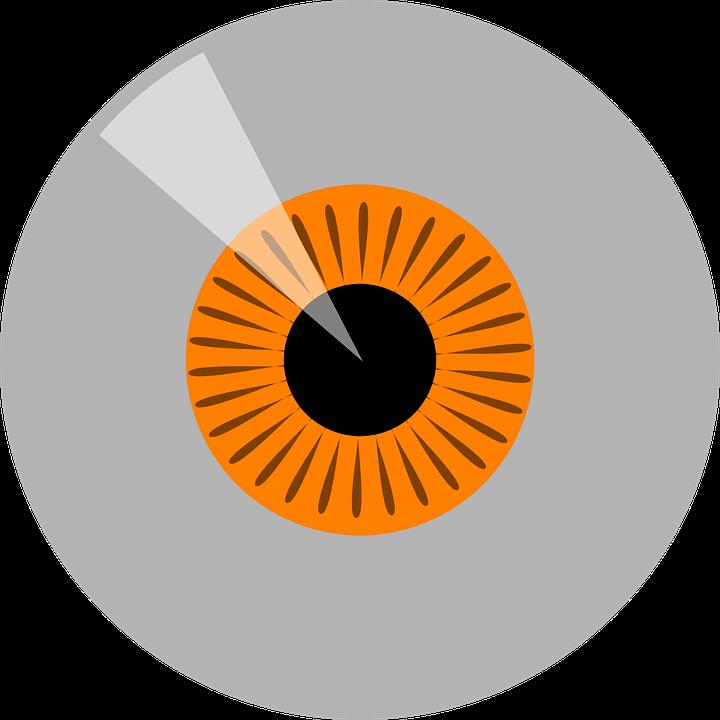 Eyeball, Iris, Orange, Yellow, Shiny