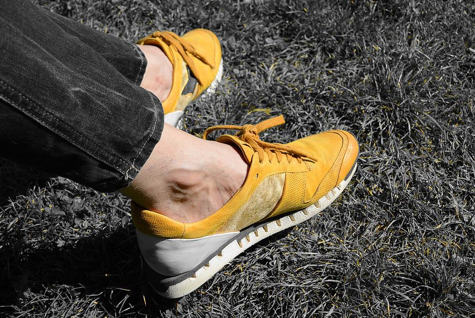 Sneakers, Relaxation, Shoes, Sports Shoes, Yellow