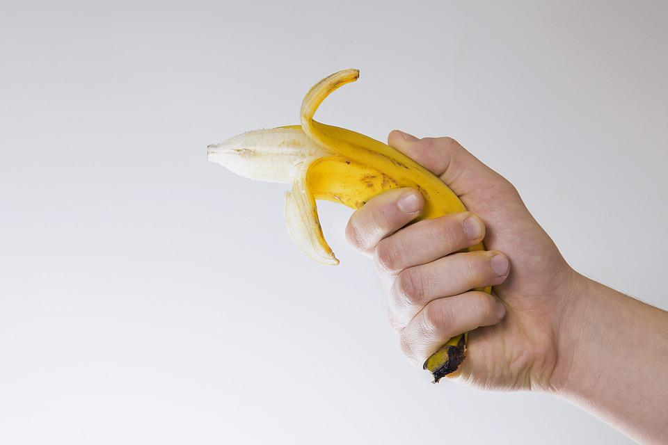 Banana, Fun, Shot, Fruit, Healthy, Fresh, Funny, Yellow