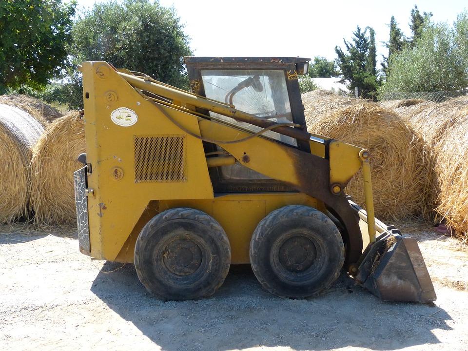 Small Machine, Construction Machine, Engine, Yellow
