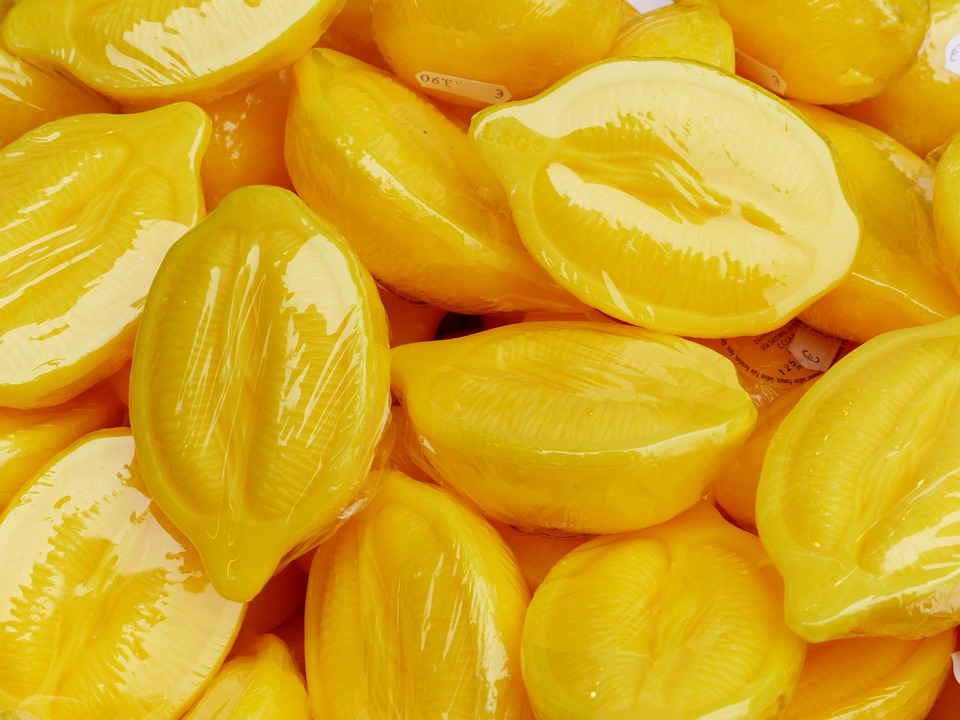 Soap, Lemon Form, Lemons, Yellow, Packed, Colorful