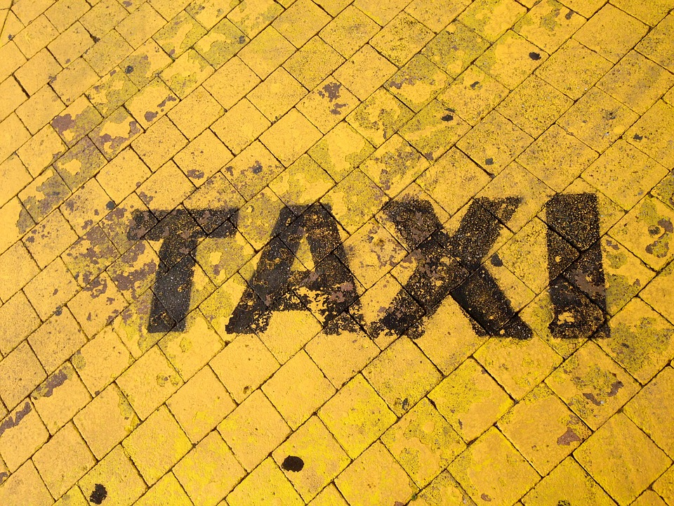 Taxi, Mark, Soil, Yellow, Slabs