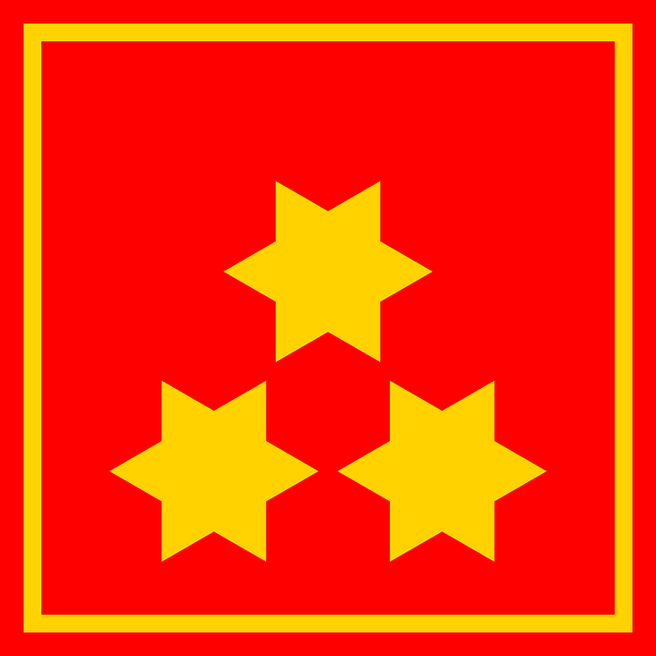 Star, Flag, Red, Yellow, Red Stars