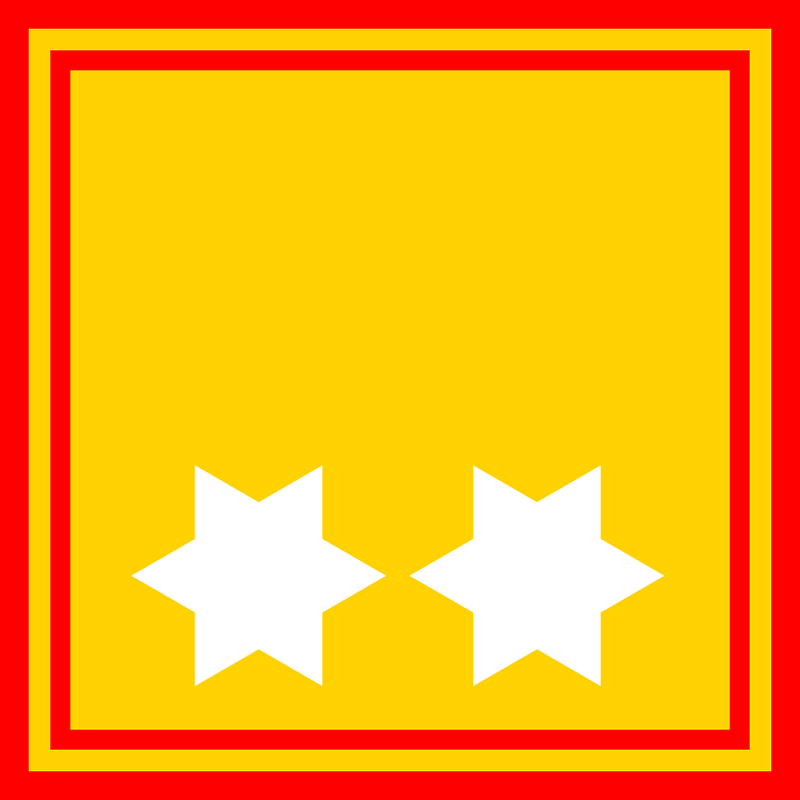 Star, Flag, Yellow, Red, Border, Yellow Stars
