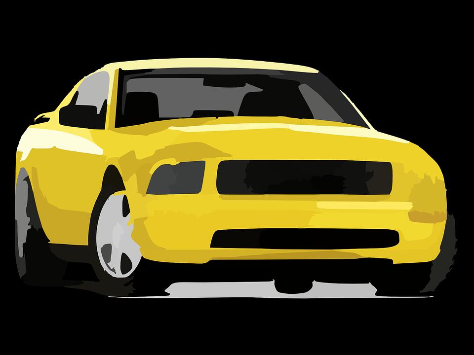 Car, Yellow, Auto, Automobile, Wheel, Drive, Street