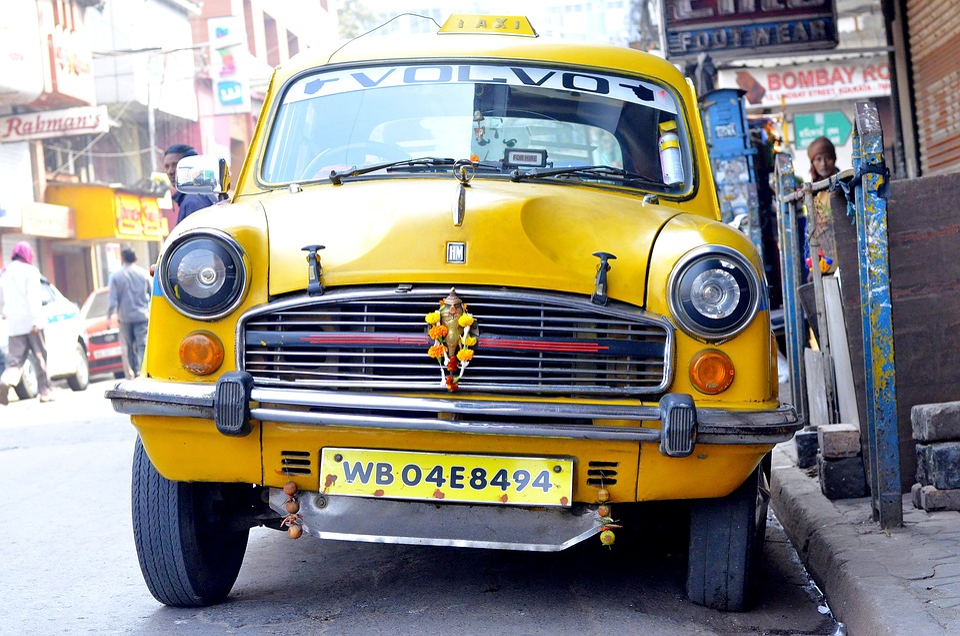 Kolkata, Taxi, India, East Bengal, Indian, Yellow