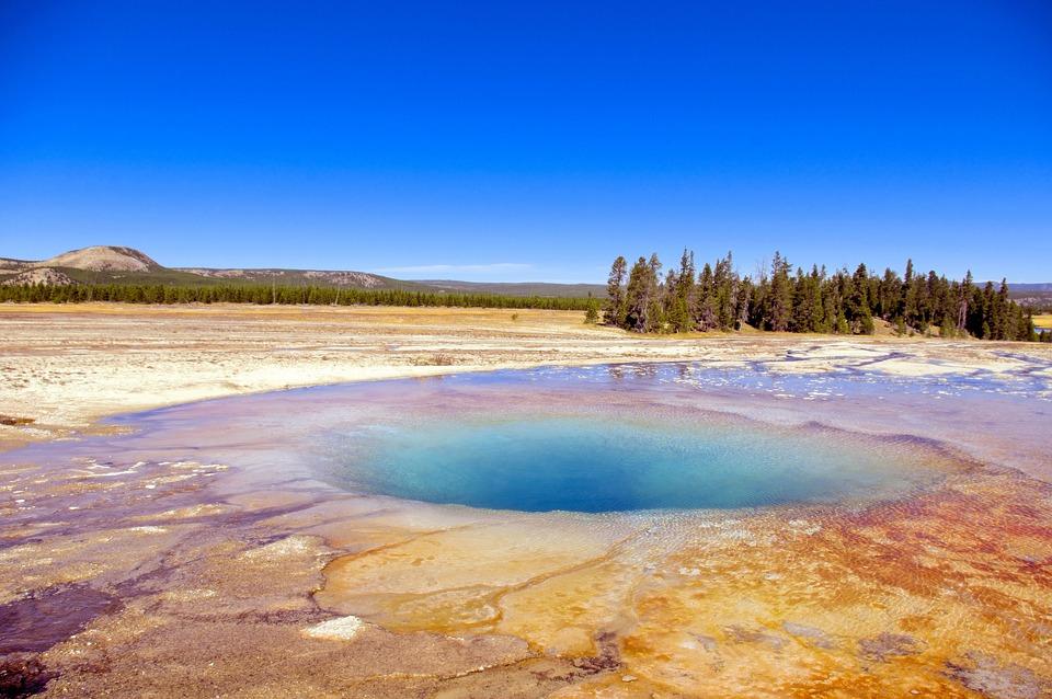 Midway Geyser Basin's Opal Pool, Hot, Pool, Yellowstone