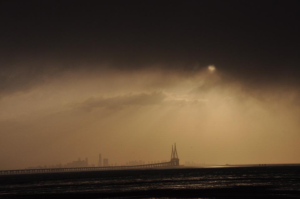 Sunrise, Shower, Cloud, Incheon Bridge, Yeongjongdo