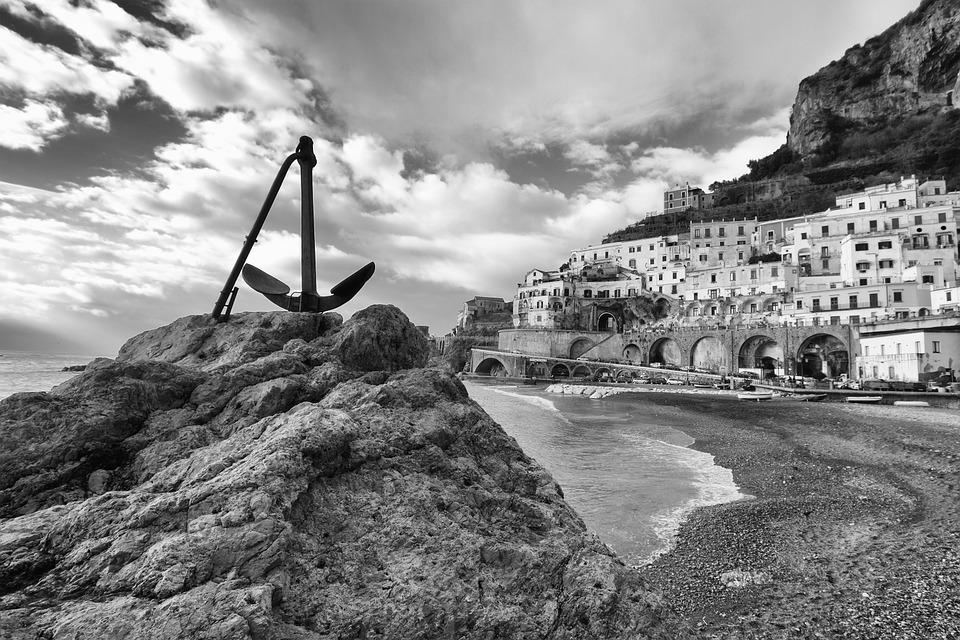 Atrani, Amalfi Coast, Campania, Sea, Yet, Beach
