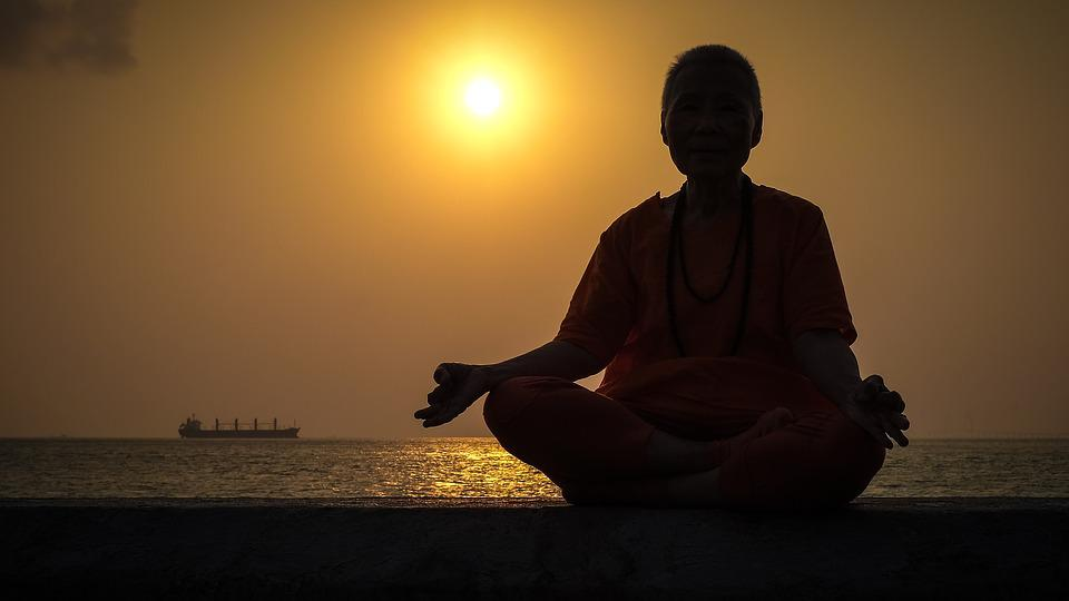 Sunset, Yoga, Portrait, Buddha