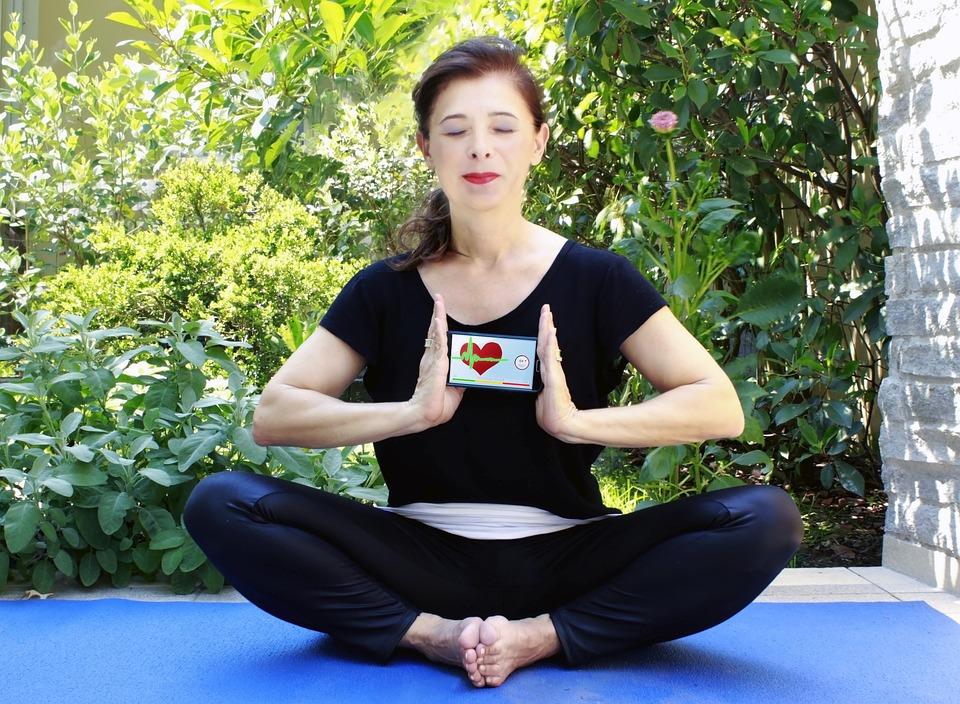 Yoga, App, Iphone, Mobile Phone, Application, Heart