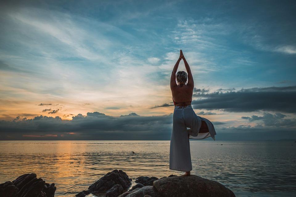 Yoga, Yoga Pose, Asana, Sunset, Woman, Meditation