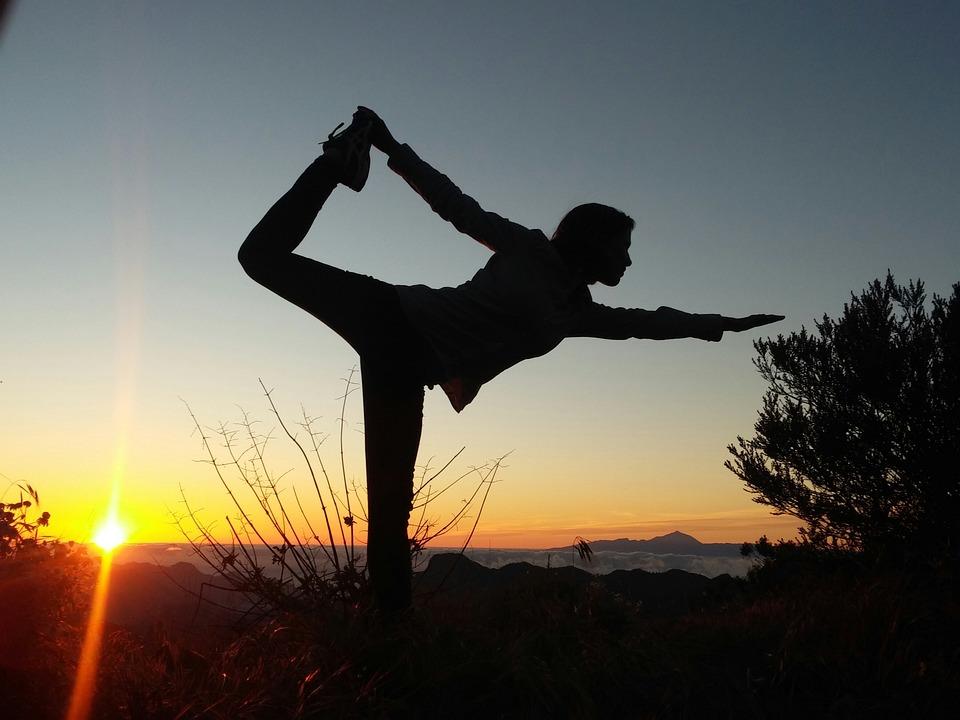 Women, Silhouette, Yoga, Grancanaria, The Sunset