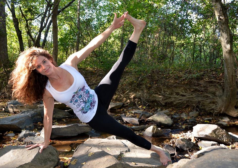 Yoga, Balance, Pose, Exercise, Woman, Young, Position