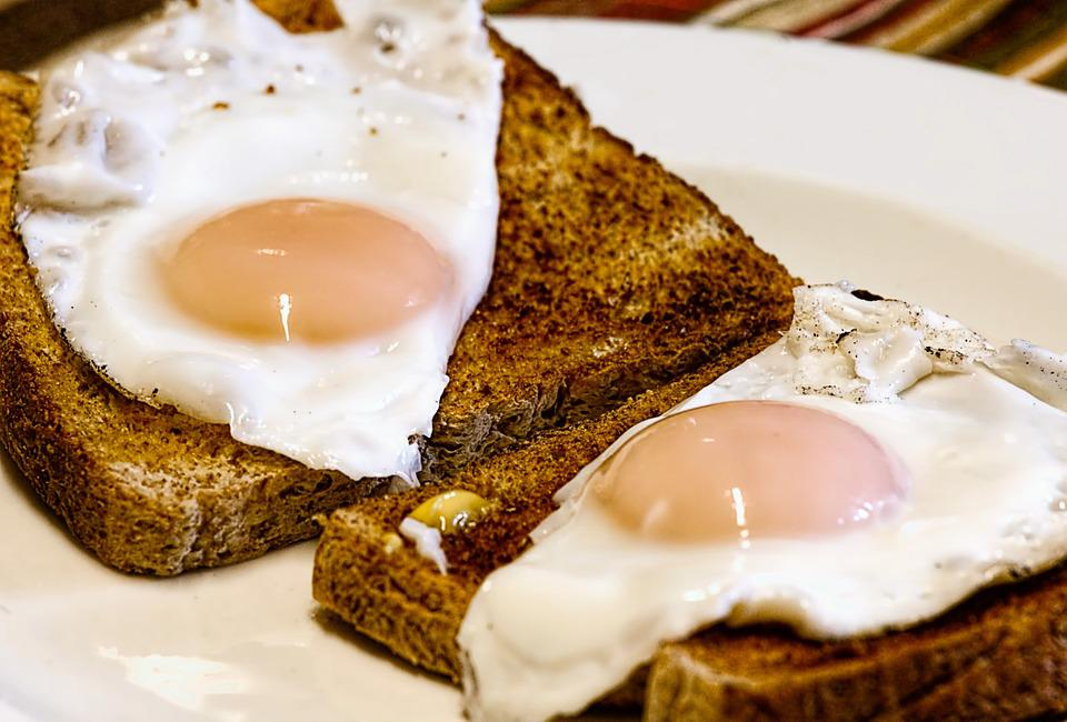 Fried Eggs, Breakfast, Toast, Food, Egg, Yolk, Morning