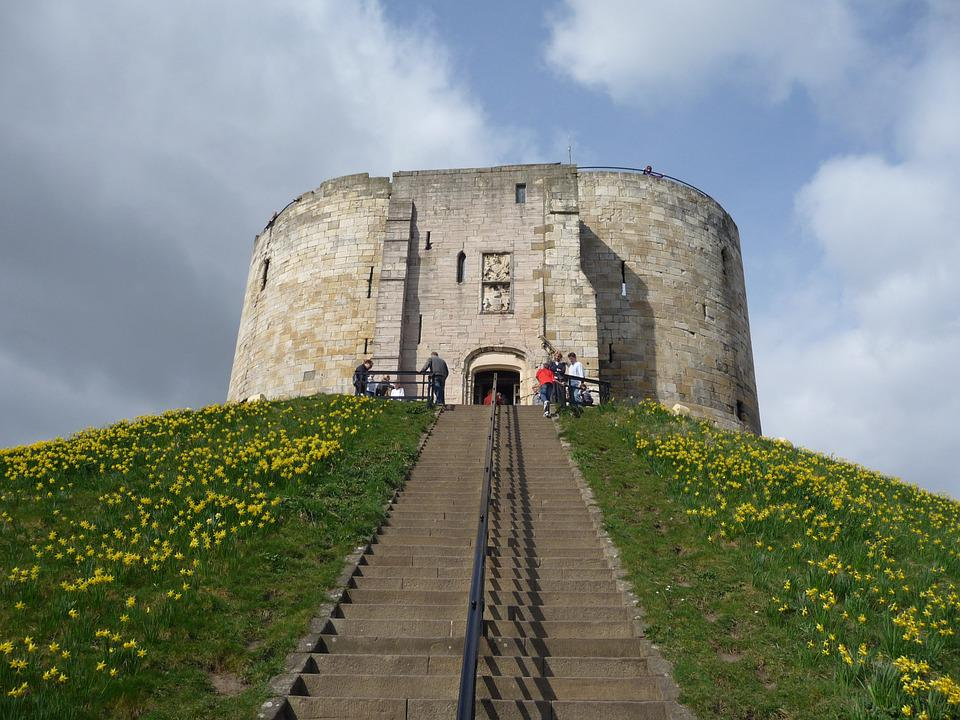 Cliffords, Tower, York, Castle, Stone, Architecture