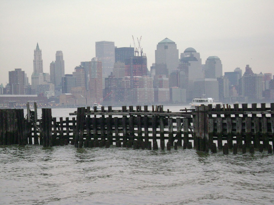 New, York, Hudson, River, Skyline, City, Buildings