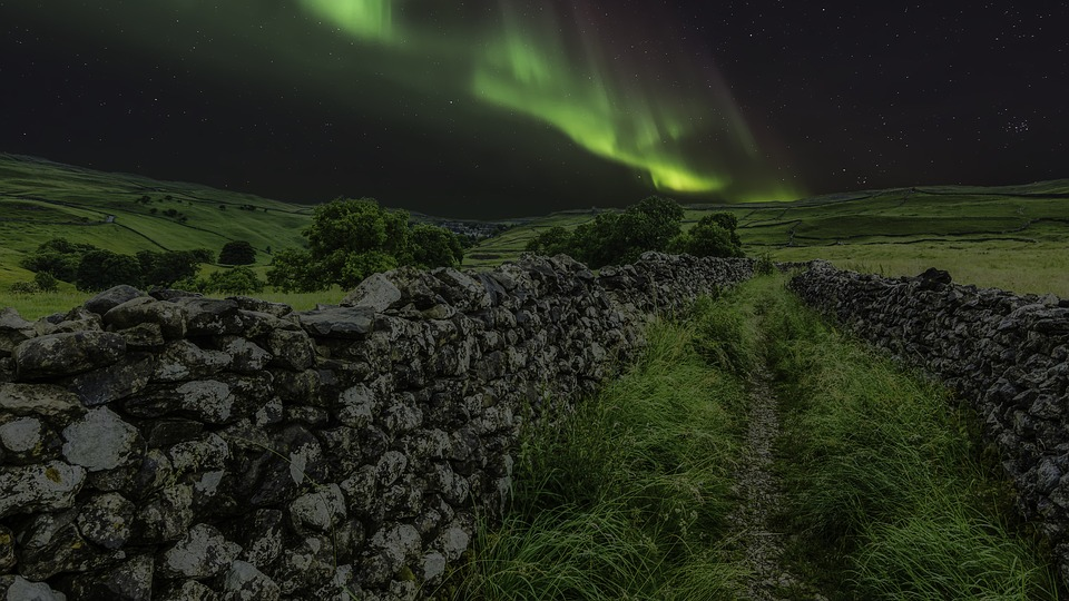 Aurora Borealis, Northern Lights, Yorkshire