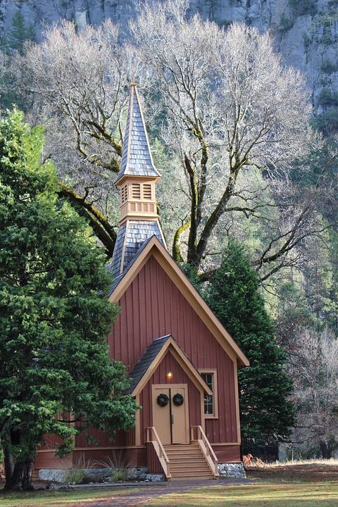 Forest, Church, Autumn, Yosemite, California, Usa