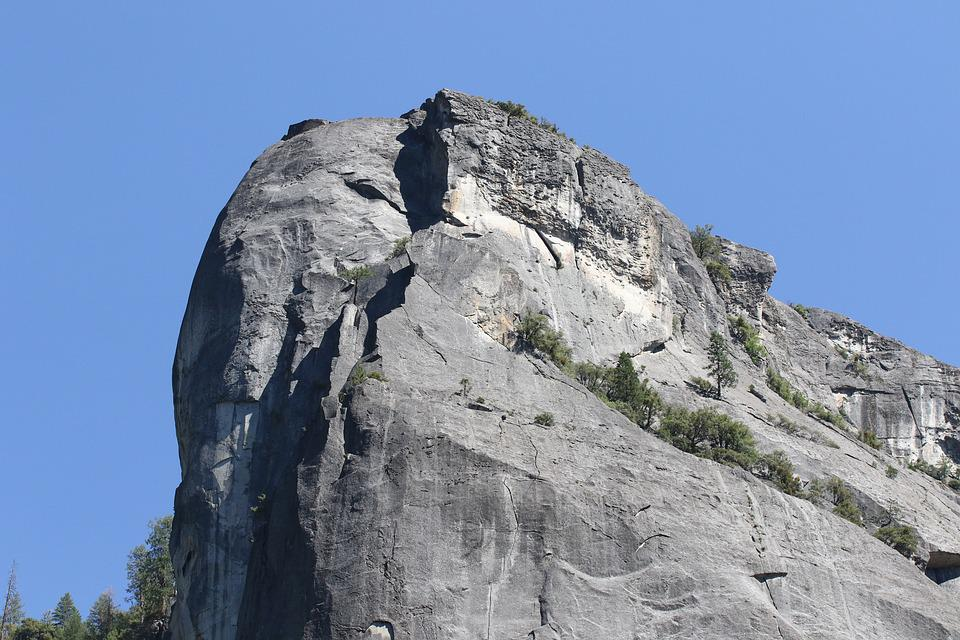 Bold, Solid, Rock Face, Yosemite