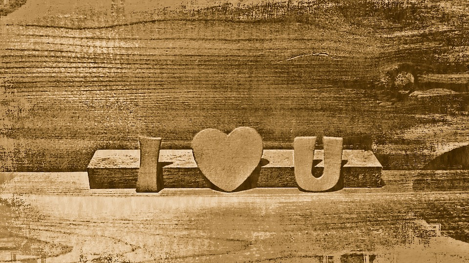 I Love You, Wood, Heart, Romantic, Love, Happy, You