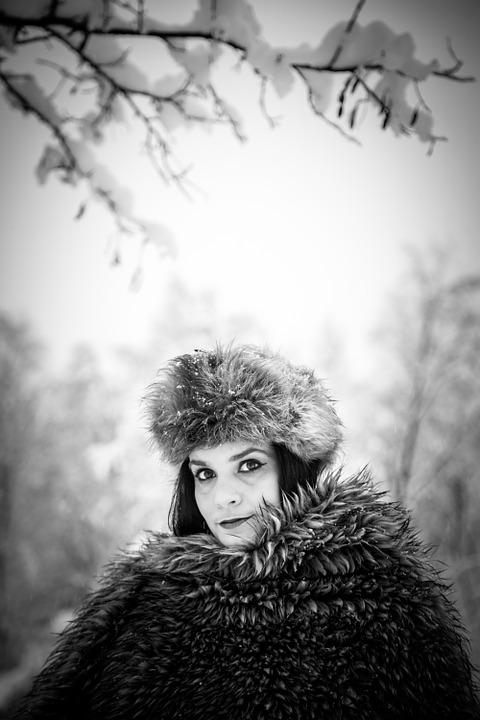 Black And White, Photography, Winter, Girl, Young