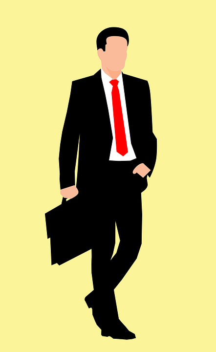 Business, Isolated, Briefcase, Young, Fullbody, Red Tie