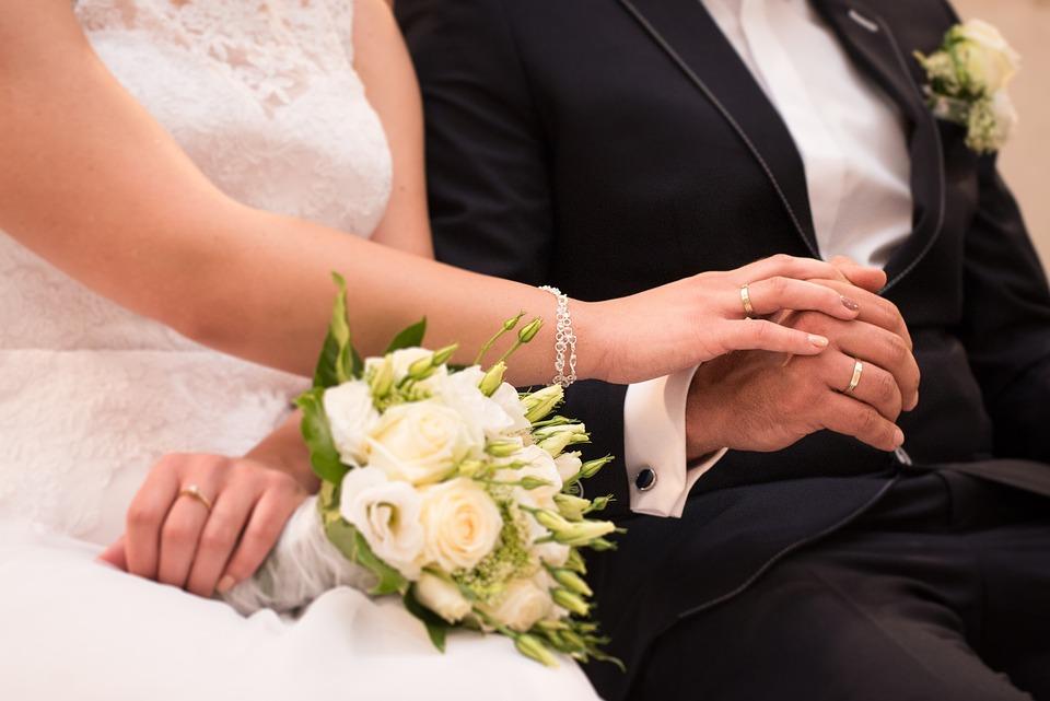 Wedding, Wedding Rings, Oath, Young Couple