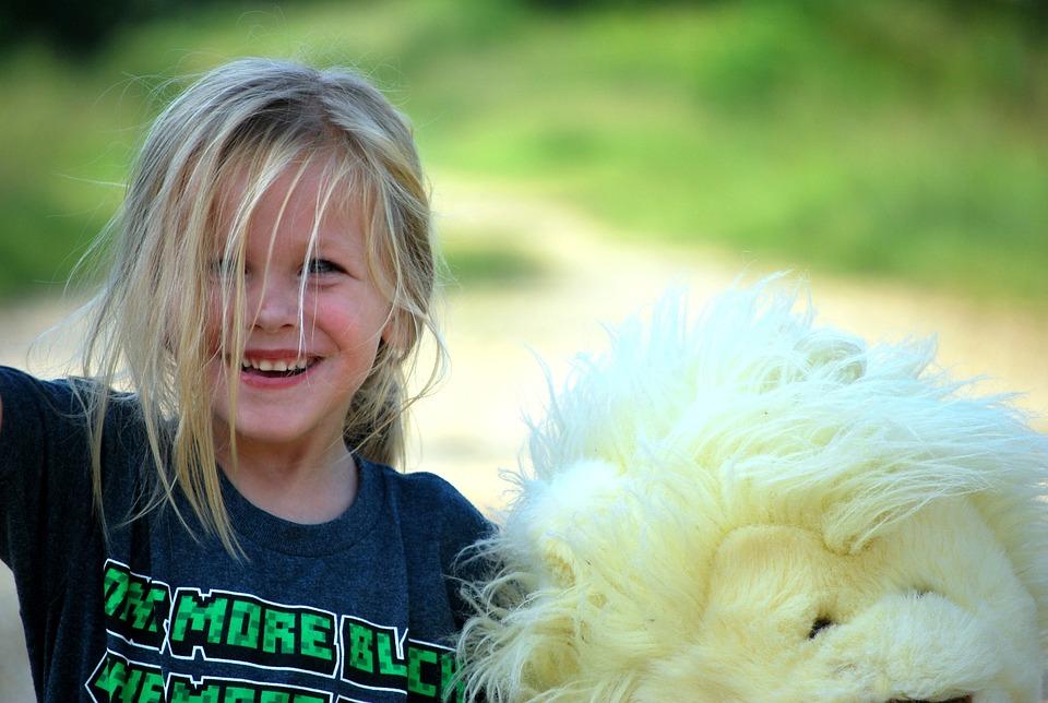 Girl, Happy, Teddy Bear, Young, Child, Fun, Cute, Kid