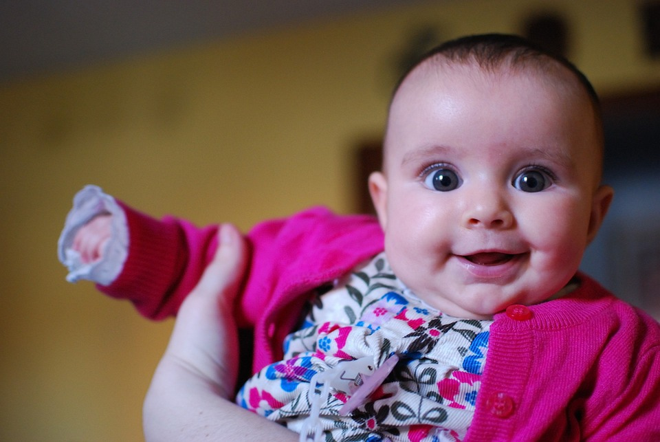 Baby, Girl, Smile, Children, Young, Cute, Happy, Eyes