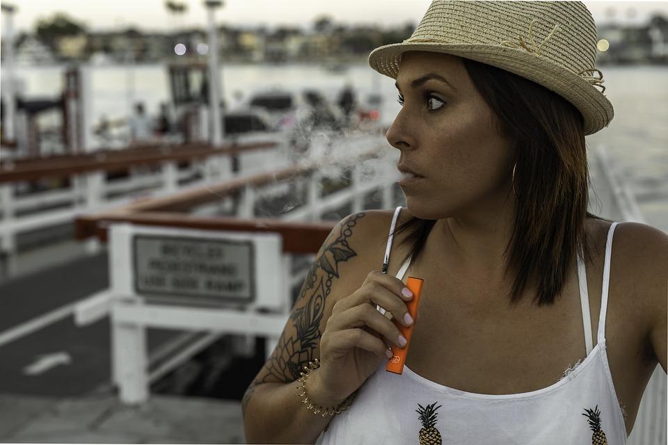 Vaping, Vape, Smoke, E-cigarette, Tobacco, Young, Girl