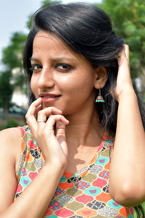 girl model indian Young