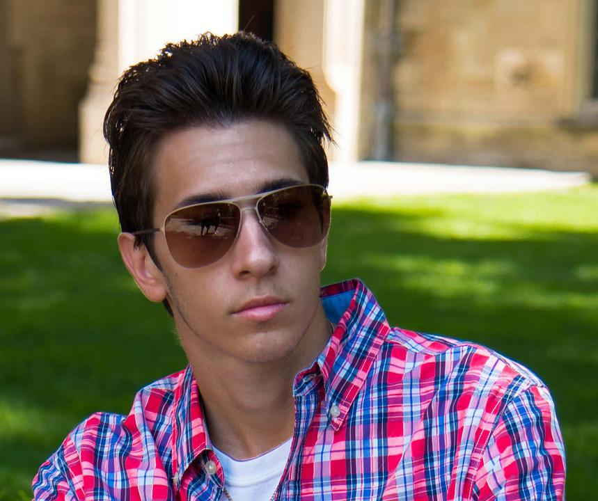 Young Man, Contemplating, Portrait, People, Sunglasses