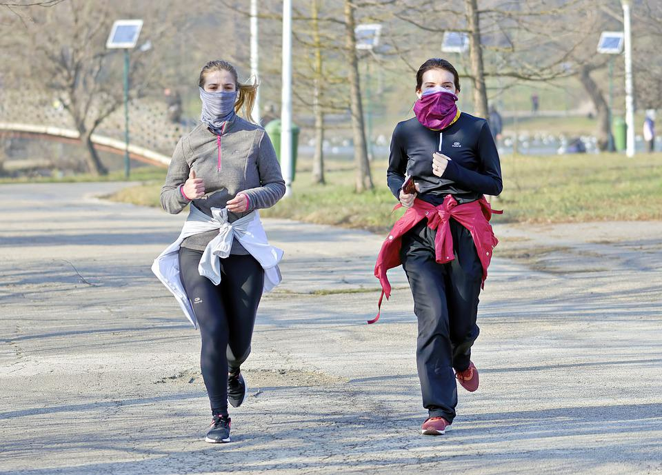 Girls, Women, Young, People, Running, Park, Nature